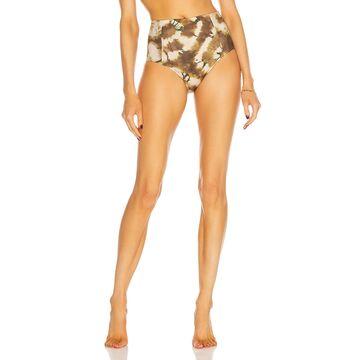 Ulla Johnson Zahara Bikini Bottom in Olive   FWRD