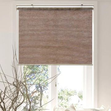Chicology Snap-N-Glide Cordless Roller Shade, Brown, 33X72