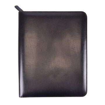 Royce Leather Ziparound iPad Case and Writing Portfolio Organizer (Black)