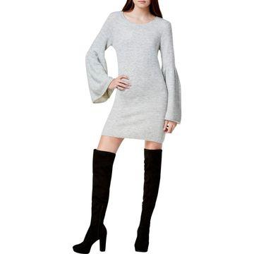 Kensie Womens Knit Crewneck Sweaterdress