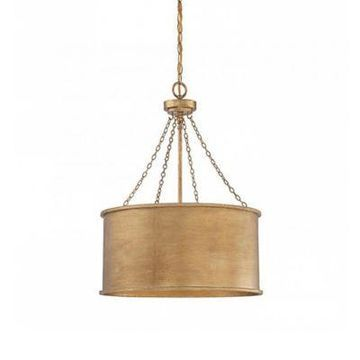 Savoy House Rochester 4-Light Pendant in Gold Patina