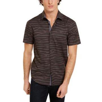 Tallia Men's Slim-Fit Houndstooth Shirt