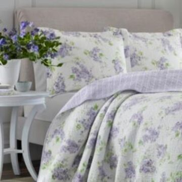 Laura Ashley Full/Queen Keighley Pastel Purple Quilt Set Bedding