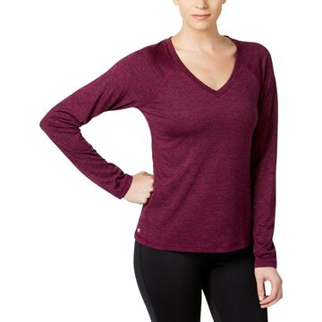 Ideology Womens Performance V-Neck Pullover Top