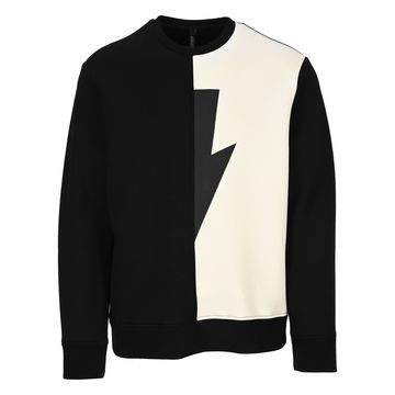 Neil Barrett Two Tone Thunder Sweatshirt