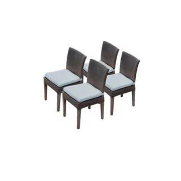 4 Barbados Armless Dining Chairs