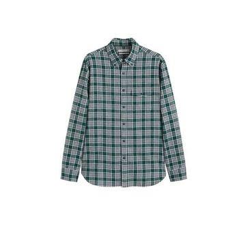 MANGO MAN Regular-fit checked flannel shirt