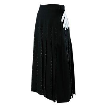 Valentino Black Wool Skirts