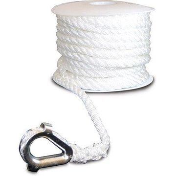 SeaSense Three-Strand Twisted Nylon Anchor Line with Thimble End, 3/8