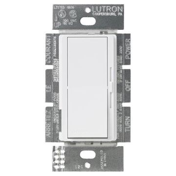 Lutron DV-603PH-WH 3-Way White Diva Dimmer