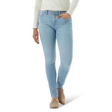 Women's Lee Ultra Lux Comfort Waistband Denim Skinny Jeans, Size: 12 Short, Light Blue