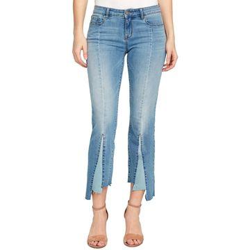 William Rast Womens Denim Cropped Flare Jeans