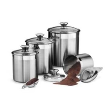 Tramontina Gourmet 8 Pc Covered Canister & Scoop Set
