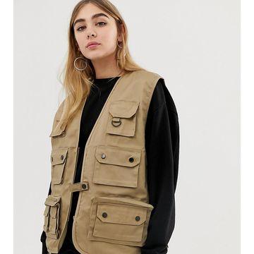 Reclaimed Vintage revived vest in stone