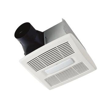 Broan InVent 0.8-Sone 80-CFM White Lighted Bathroom Fan ENERGY STAR   AE80L