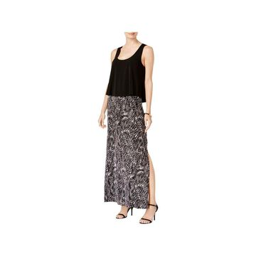 Connected Apparel Womens Casual Dress Maxi Pleated