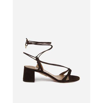 Aquazzura Suede Sandals With Laces
