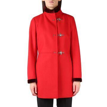 Fay Virginia Red Midi Wool Coat
