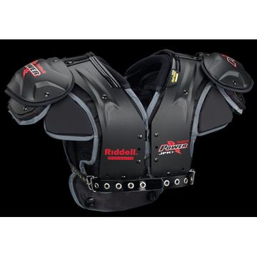 Riddell Power JPK + (Junior Varsity) Football Shoulder Pads, Black/Red, Medium