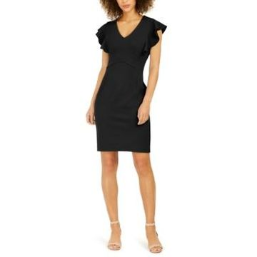 Ny Collection Petite Ruffle Sleeve Dress