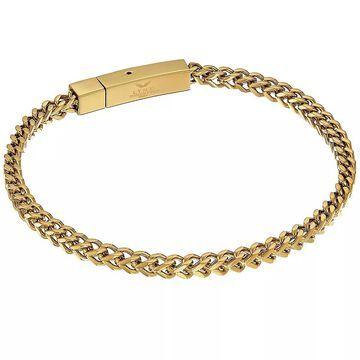 "Men's LYNX Gold-Tone Stainless Steel Chain Bracelet, Size: 9"", Yellow"