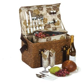 Woodstock 2, 2 Person Picnic Basket, Fern Lining