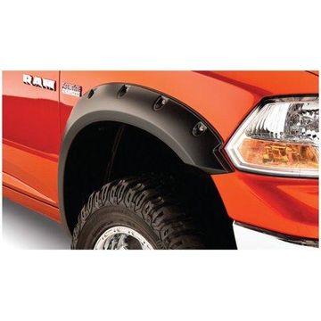 Bushwacker 09-18 Dodge Ram 1500 Pocket Style Flares 2pc - Black