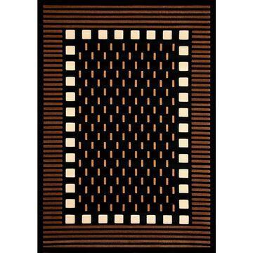 Marik Chocolate/ Beige/ Black/ Ivory Olefin Area Rug by Greyson Living