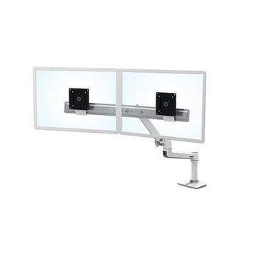Ergotron LX Dual Direct Monitor Arm (white) Desk Mount
