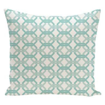 We'Re All Connected Geometric Print Pillow, Ocean, 26