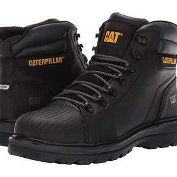 Caterpillar Foxfield Steel Toe (Black Leather) Men's Work Boots