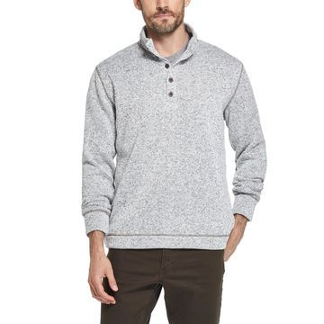 Men's Three-Button Fleece Pullover