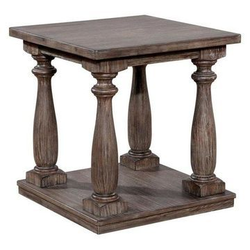Furniture of America Rominoff End Table in Gray