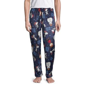 Peanuts Mens Fleece Pajama Pants Peanuts