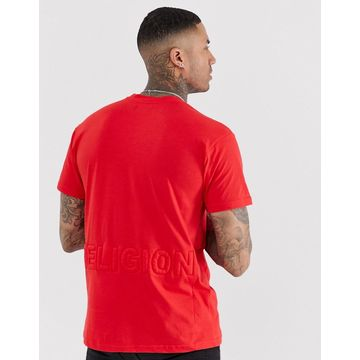 Religion loose fit t-shirt with logo in red