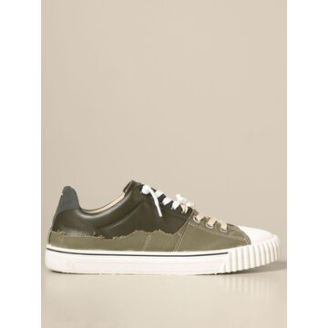 Maison Margiela paneled sneakers in canvas and leather