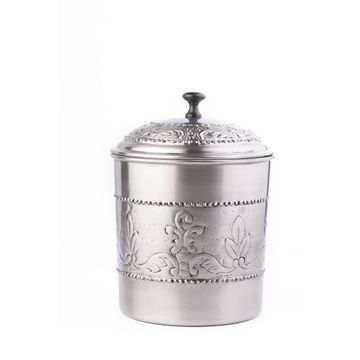 International Antique Embossed Victoria Cookie Jar with Fresh Seal Cover, 4-Quart