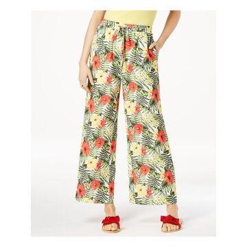 XOXO Womens Green Printed Soft Pants Juniors Size: 2