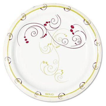 Dart Symphony Paper Dinnerware, Mediumweight Plate, 6