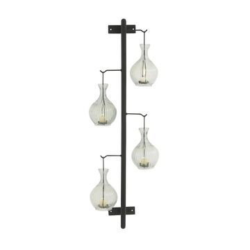 Studio 350 Metal Glass Wall Candle Holder 9 inches wide, 39 inches high