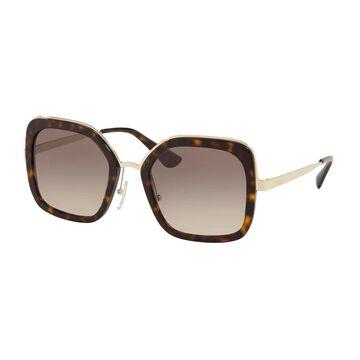 Prada PR 57US 2AU3D0 54 Havana Woman Square Sunglasses