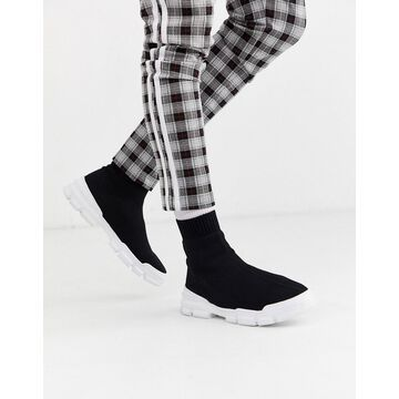 Truffle Collection sock sneaker in black