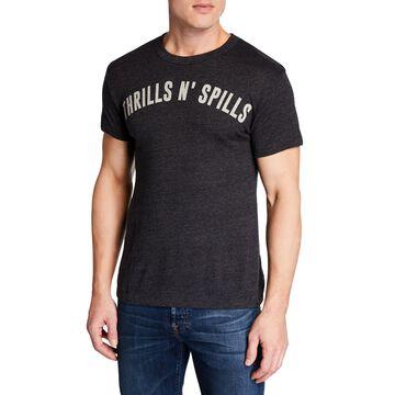 Men's Thrills N' Spills Printed Cotton T-Shirt