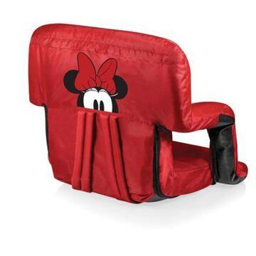 Picnic Time Canvas Adjustable Chair in Red