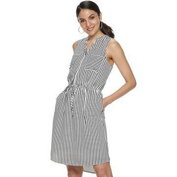 Women's Apt. 9 Sleeveless Zipper-Accent Dress