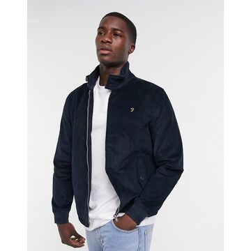 Farah Bowie cord harrington jacket in navy