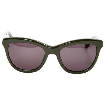 Nina Ricci Khaki Plastic Sunglasses
