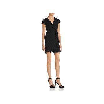 Bardot Womens Wrap Dress Cocktail V-Neck