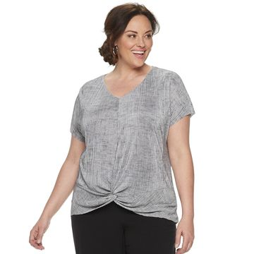 Womens Dana Buchman Front Twist Top