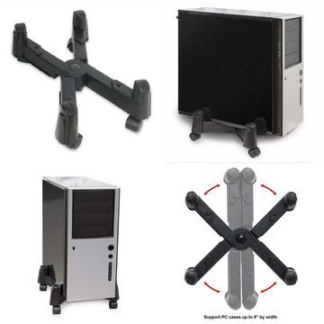 Mobile Desktop Tower Computer Floor Stand Rolling Caster Wheels and...